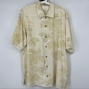 Tommy Bahama 100% Silk Large Button Up Shirt